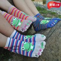 Toe socks baby child 100% five-toe socks cotton cartoon socks 5 - 10 a82 thumb