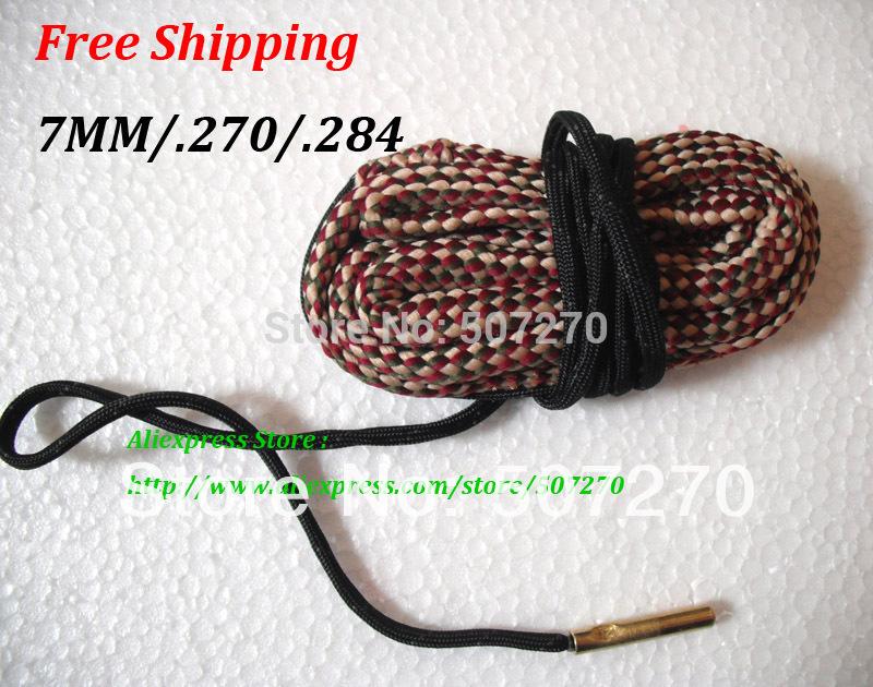 Free Shipping 7MM 270 284 Caliber Bore Gun Cleaning Pistol Shotgun Cleaner Hunting Rifle 13