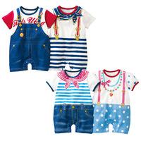 Free Shipping! New 2014 Summer Baby Boy Girls Rompers Baby Summer Jumpsuit Baby Cotton Rompers Baby Clothes Short Sleeve