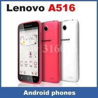 Original Lenovo A516 Android 4.2 MTK6572W 1.3GHZ Dual Core 4.5 Inch IPS Screen Smart Cell Phone 5.0MP Camera 3G GPS 4G ROM With
