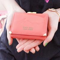 Pear doll wallet female japanned leather small heart design women's short wallet wrench wallet