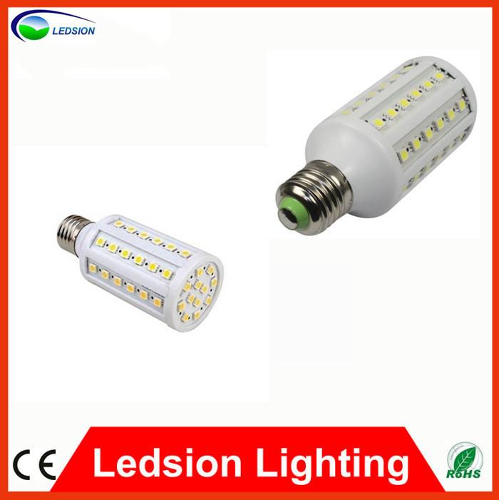 12W 5050 SMD 60 LED Corn Bulb Light E27 LED Lamp 85-265V Cool Warm White Led Bulbs , standard E27 fittings hot sell in Europe(China (Mainland))