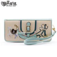 Pear doll wallet female ribbon long design wallet women's wallet q179