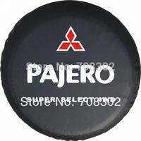 "Free shipping Mitsubishi Car modified PU spare tire cover custom off-road 14 ""15"" 16 ""17"" PVC spare wheel cover for Pajero"