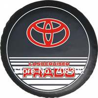 "Free shipping Toyota Car spare tire cover custom off-road 14 ""15"" 16 ""17"" PVC spare wheel cover PRADO"
