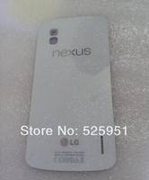 HK free shipping+free adhesive+logo,Brand new black white glass housing Back case Battery door FOR LG Google Nexus 4 E960