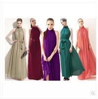 2014 bohemian dress ultra perfect fairy goddess Halter collar chiffon dress long dress