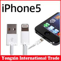 Free shipping  5pcs/lot  Top quality 1M 8pin Connector USB Charge Sync Cable For iphone 5 5s 5C for Ipad 5 Air