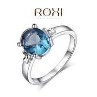 ROXI Christmas Dinner blue rings top quality make with genuine AAA zircon fashion jewelry  2010802310
