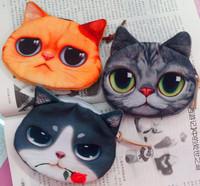 wholesale 60pcs/lot fashion coin purses cute cat change purse cute coin purse bag women wallets women clutch