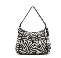 High Quality Brand Women Totes Handbag, OL Bag, PU, 30*8*27cm, Fashion And Casual, Red / Purple / Zebra