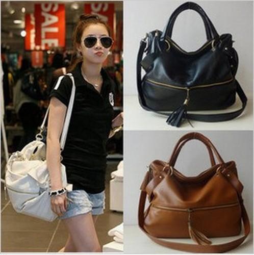 Новый леди корейский искусственный кисточкой кожаный сумочку сумка женщин большой емкости тотализатор