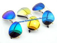 Wholesale reflective colorful lens 3025 oculos de sol  Mens Womens fashion Sunglasses cheap