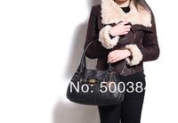 High Quality Brand Women Fashion Solid Tote Shoulder Bag 33*11*19.5cm PU