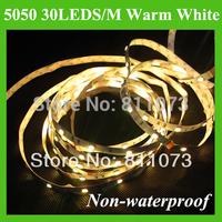 5M 5050 30LED/M  150 LED  Flexible Strip Light Non-Waterproof DC12V Warm White