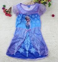 New 2104 children summer Frozen dress Girl Frozen Elsa's and Anna's dress freeshipping