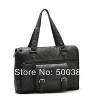 High Quality Brand Men / Women Shoulder Bag Messenger Bag 41*13*29cm PU Black / White
