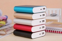 100pcs colorful Xiaomi Power Bank 10400mAh Battery Pack for iphone 5 4S 5S / SAMSUNG Galaxy S4 S3 / HTC ,free shiping