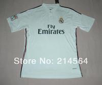 Free shipping 2014 Best thailand quality 2014/15 Real Madrid Jersey shirt Ronaldo Isco bale Di maria Modric RAMOS Soccer jersey
