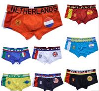 2014 High Quality 12pcs/set  Boxers Underwear Flag Pants Man Underwear Boxer Shorts