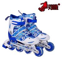 Child skeeler adjustable flash skates set inline skating shoes