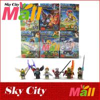 6Pcs/lot 2014 New Original Decool Phantom Ninja Ninjago Learning & Education Chima Classic Toys Building Blocks Mini Figure