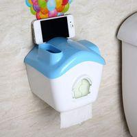 Waterproof Phone Loudspeaker Toilet Paper Holder Roll Tissue Case Stand Washroom Bathroom Accessories Sky Blue New 95402