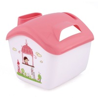 Multi-function Tissue Box Storage Phone Toilet Paper Holder Napkin House Cover Pink New 95404