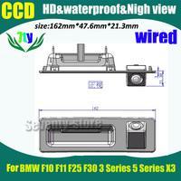 Free shipping Car rear view Camera For BMW F10 F11 F25 F30 3 Series 5 Series X3  HD CCD 170 degree Car backup Camera
