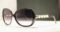 Hot 2014 Brand Designer Women Sunglasses Pearl Frame Summer Sun Glasses Women's Vintage Sunglasses Outdoor Goggles Eyeglasses