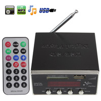 Power Amplifier MP3 Audio Player Reader 4-Electronic Keypad Support USB SD MMC Card with Remote