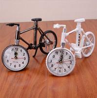 1pcs Creative Bicycle Alarm Clocks Cool Gift Alarm Quartz Clock Bicycle Model Desk Clock Two Colors J2082
