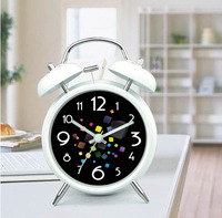 Creative Metal Silent Alarm Clock Colorful Cube Belling Alarm Clocks Black And White Random Colors Free Shipping J2083