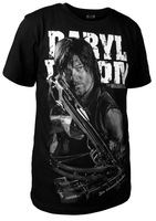 The Walking Dead Cotton T-shirt Men Casual Wings Printing Tops DARYL DIXON Black Tshirt Tee