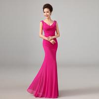Long Evening Dress 2015 new arrival fashion sexy wedding formal dress fish tail slim plus size party dress prom dress custom