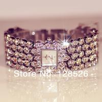 Women Rhinestone Watches 2014 Ladies Dress Watches Full Diamond Crystal Women's Luxury Watches Female Silver Quartz Watches005