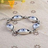 2014 New Fashion Zinc Alloy Blue Evil Eyes Bracelet