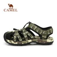Camel outdoor beach sandals 2014 anti-collision toe cap jacquard webbing Men 412036002 sandals