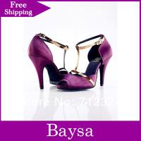 Free shipping new design women's Latin dance shoes small open toe dance shoes ballroom dance shoes
