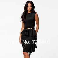 Free Shipping 2014 New Arrvial Ladies' Sexy Plus Size Club Dress Women's  Princess Office Wear  Girls' Fashion Apparel