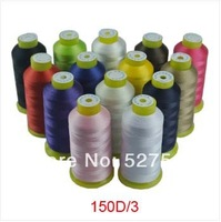 Free shipping  150D/3 high tenacity polyester sewing thread   multicolor high speed sewing thread 100g/pc 4pcs/lot