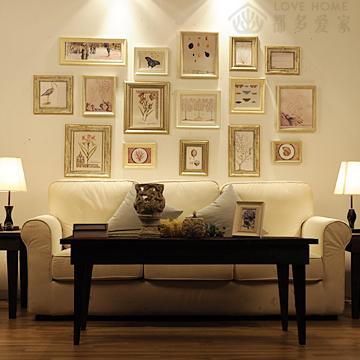 Fashion eco-friendly photo frame photos of wall high quality american style photo frame 16 box(China (Mainland))