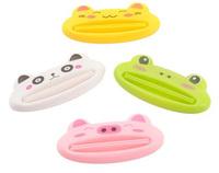 4pcs/lot Lovely Animal Bathroom Dispenser Toothpaste Tube Squeezer Easy Squeeze Paste Dispenser Roll Holder 8.8*4cm 870001