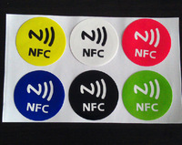 Free shipping(6 pcs)13.56MHz NFC Smart Tags Stickers Rfid IC Adhesive label for Oppo Sony xperia HTC Samsung Nokia LG(30MM)