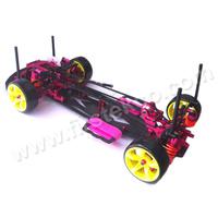 NEW 1/10 Aluminum alloy OP parts + Carbon Chassis Belt Drive 4WD RC Drift Car For Sakura D3 CS Pre-assembled Kit