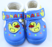 New Winter Baby Boys First Walkers Shoes Blue PU Leather Winter Children Shoes Cute Kids Toddler Shoes