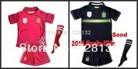 2014 world cup Spain Home/Away baby/Kids/Youth Full Set (shirt+short+Sock),14-15 ISCO XAVI boys/girls soccer jersey Kit sock