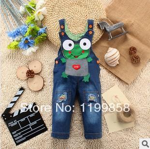 Hot sales!!(75-95cm) Fashion Children's Cute Dog Clothing Boy Denim Pants Baby Bib Pants Kids Jeans Overalls,Suspender(China (Mainland))