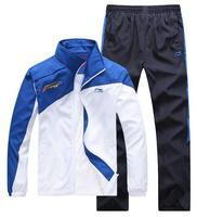 Hot! 2014 Brand Men's Tracksuit Coat Sportswear Jacket Casual Pants Spring Autumn Running Sports Suit Fashion Sweatshirt Sets