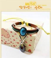 Hematite Beads Fashion leather bracelet